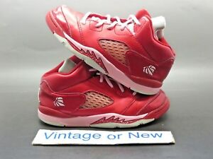 low priced cc068 22cff Details about Girls Nike Air Jordan V 5 Valentine's Day Retro TD 2013 sz 10C
