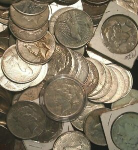 Peace-Silver-Dollars-US-Coin-lot-Circulated-Choose-How-Many