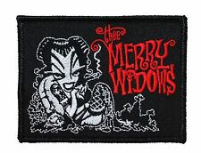 """Thee Merry Widows"" Band Art Psychobilly Rock Merchandise Iron On Applique Patch"