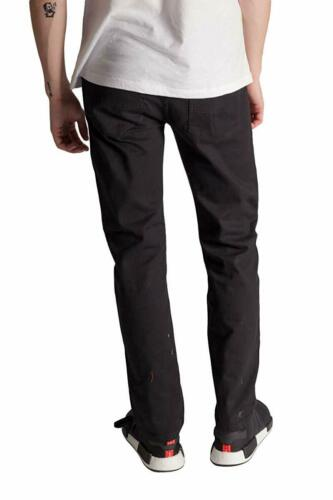 KAYDEN.K Men/'s Slim Fit Jeans BLACK Twill Denim Pants Size 30-40