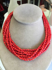 Jay King Mine Finds DTR Sterling Silver CORAL Multi Strand Necklace