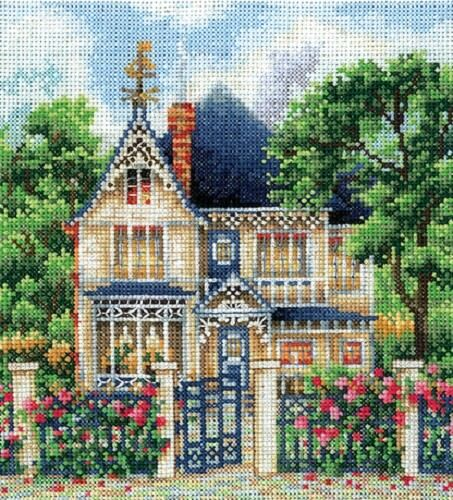 """/""""Country House/"""" Counted Cross Stitch Kit MAKE YOUR OWN HANDS C-36"""