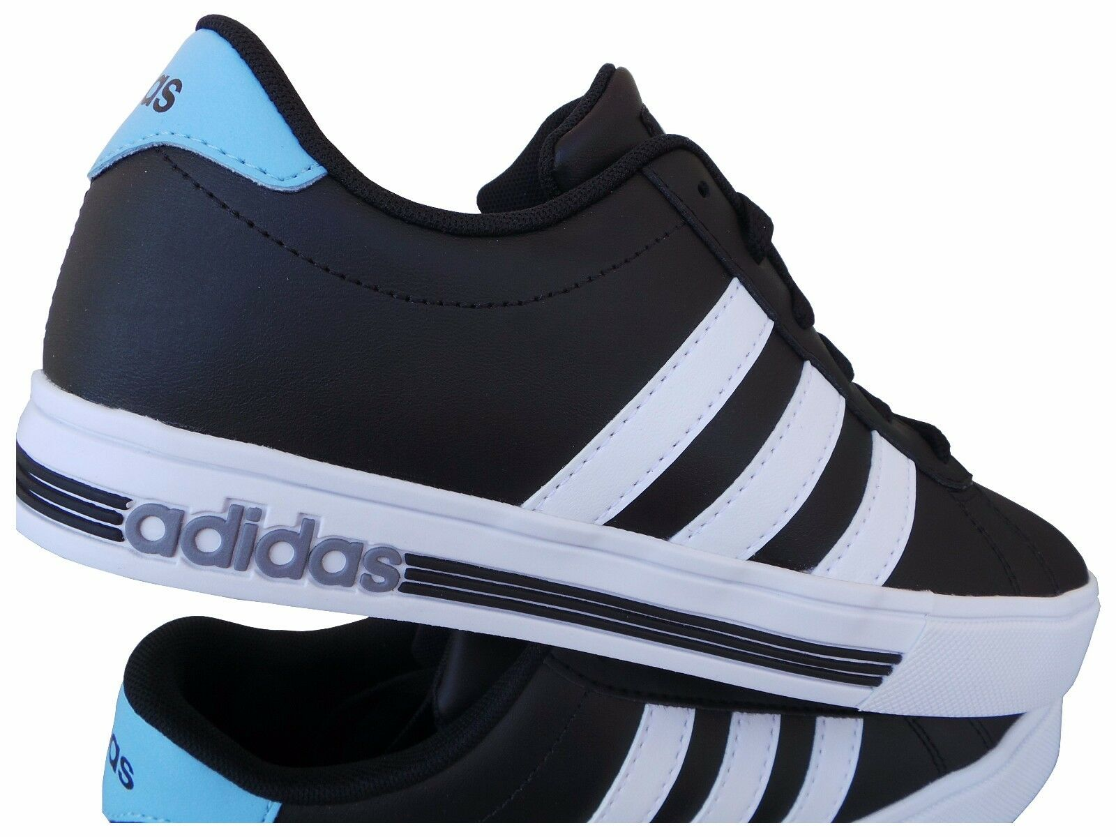 ADIDAS DAILY TEAM SNEAKERS SCHUH black WEISS CLOUDFOAM GR 40 41 1 3