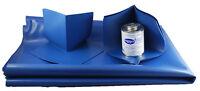 Composeal Blue Vinyl Shower Pan Liner Waterproofing Membrane Complete Kit