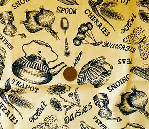 LEMON-WITH-A-DESIGN-OF-NAVY-KITCHEN-ITEMS-100-COTTON-FABRIC-FQ-039-S