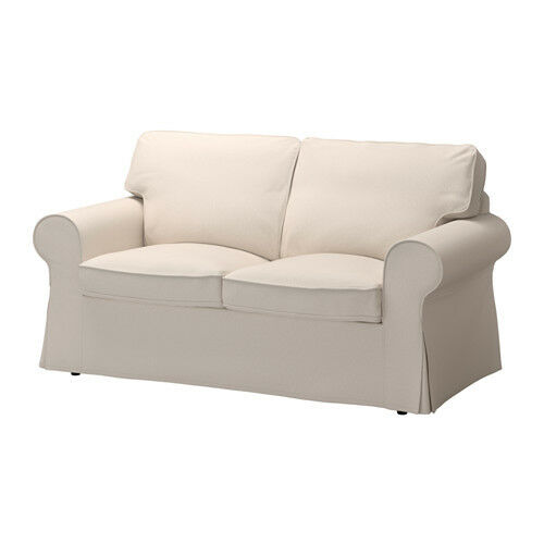 Ikea EKTORP Removable Cover Two Seat Sofa,Lofallet Beige,100/% cotton,Washable