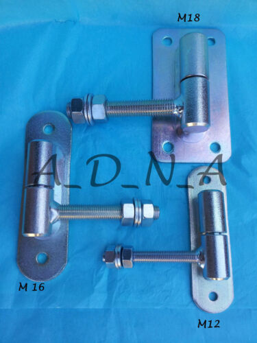 FENCE HINGE HIGH QUALITY METAL ADJUSTABLE GATE HEAVY DUTY M12