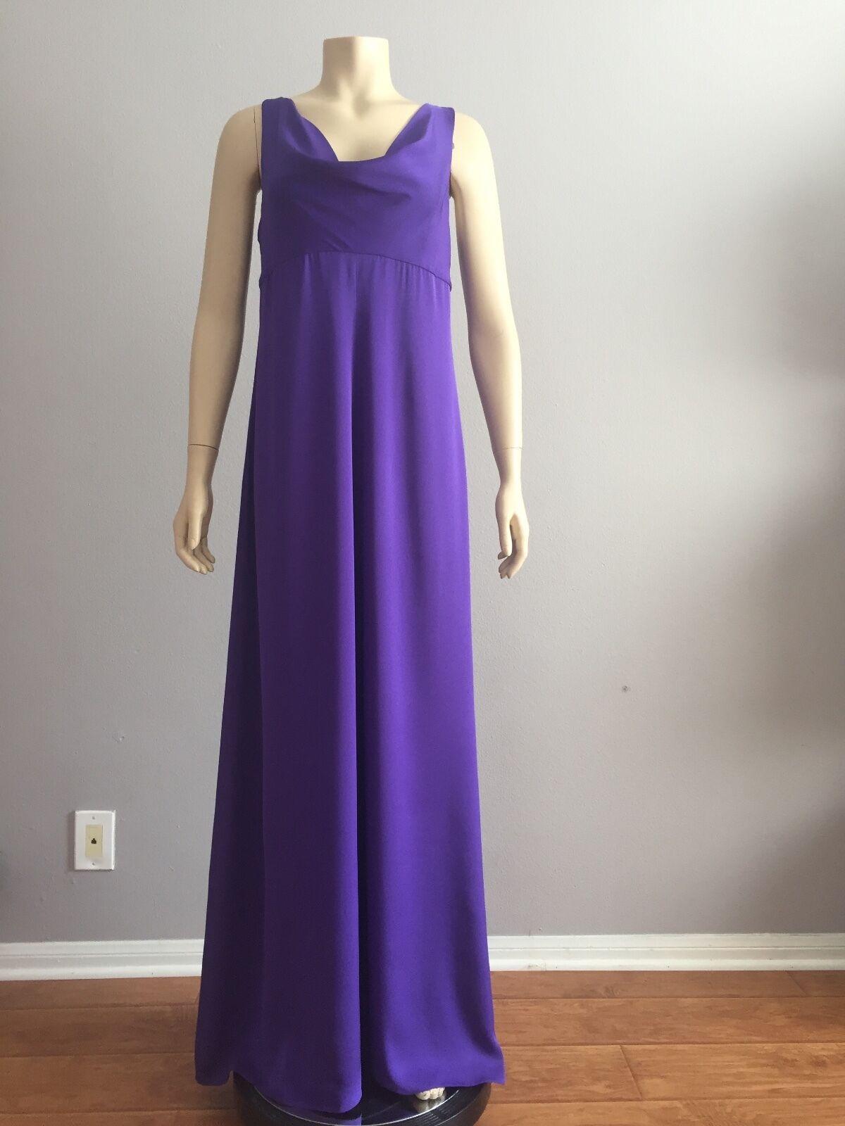 NWT ARMANI COLLEZIONI GOWN PURPLE COLOR, Dress Size 8 8 8 Tag Price  1,725 4c6266