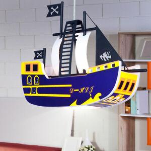 Details zu Kinderzimmer Hängeleuchte Deckenleuchte Beleuchtung Piraten  Schiff Baby Lampe