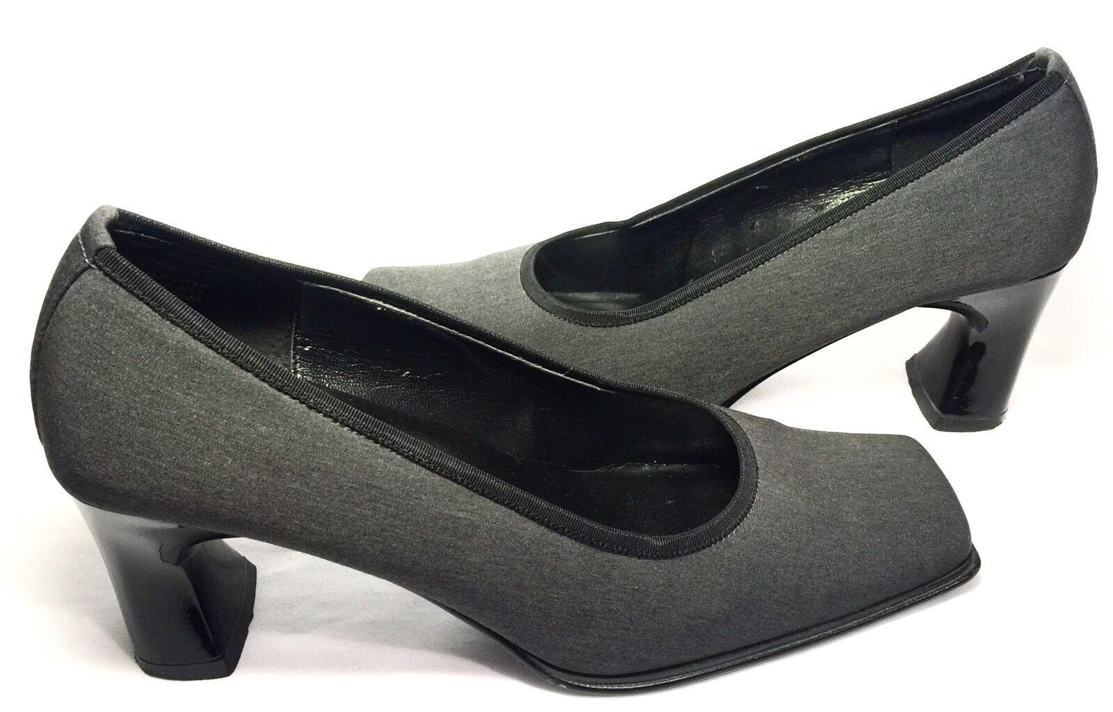 Anne Klein 2 Gray Shoes Square-Toed Heels Pumps Dress Shoes Gray 7.5M. EUC cab405