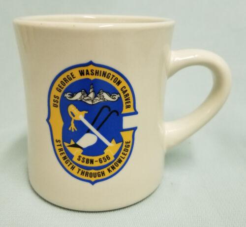 USN US NAVY USS GEORGE WASHINGTON CARVER SSBN-636 LOGO CUSTOM MUG CUP STEIN