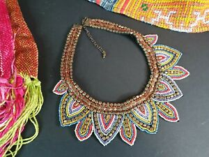 Old Tibetan Beaded Choker Necklace …beautiful collection and accent piece