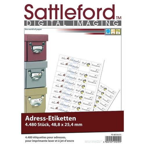 Klebeettiketten: 4480 Adress-Etiketten Mini 48,8x25,4 mm für Laser/Inkjet