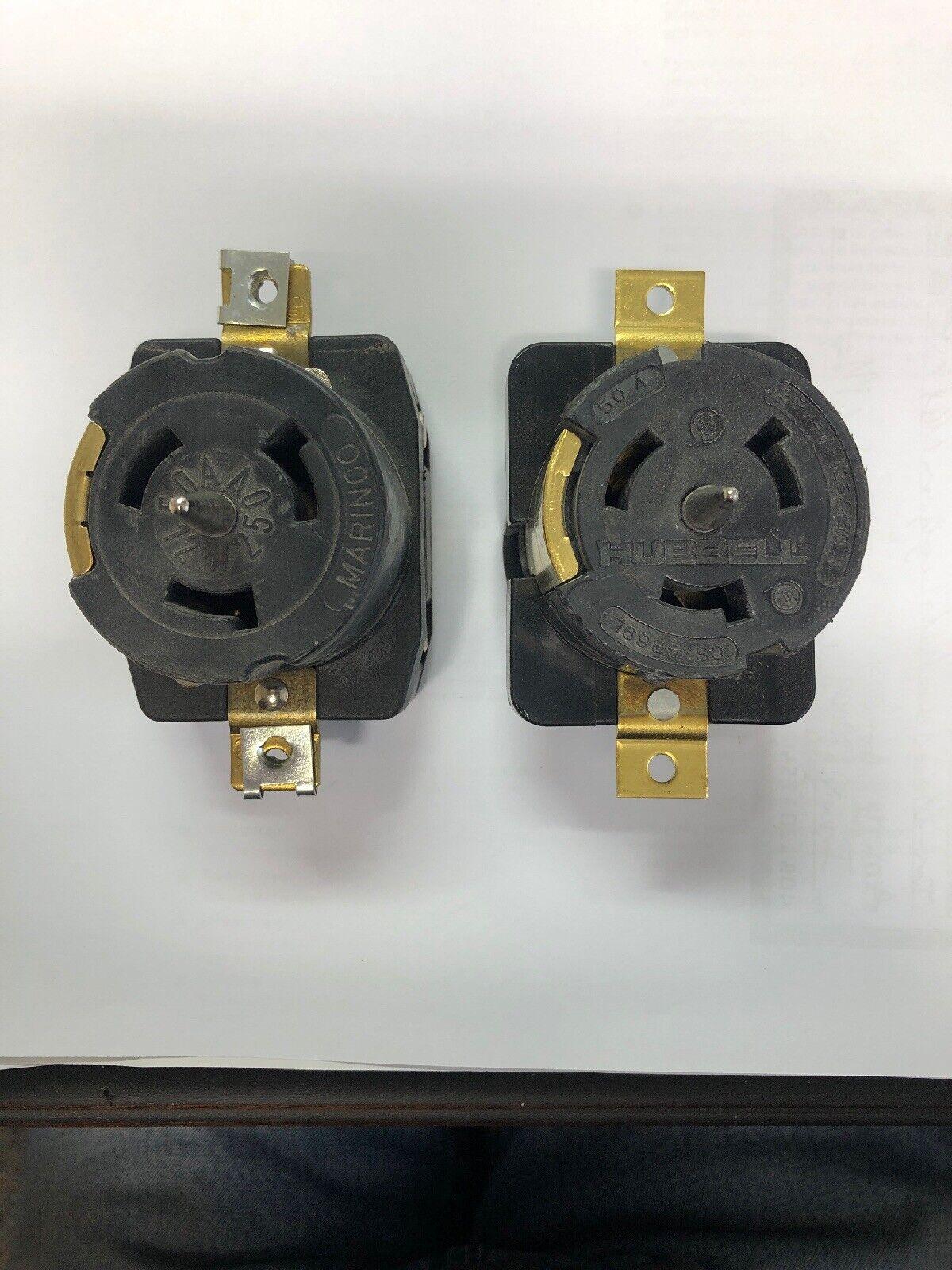 125 Volt//250 Volt Receptacle Marinco CS6369 50 Amp