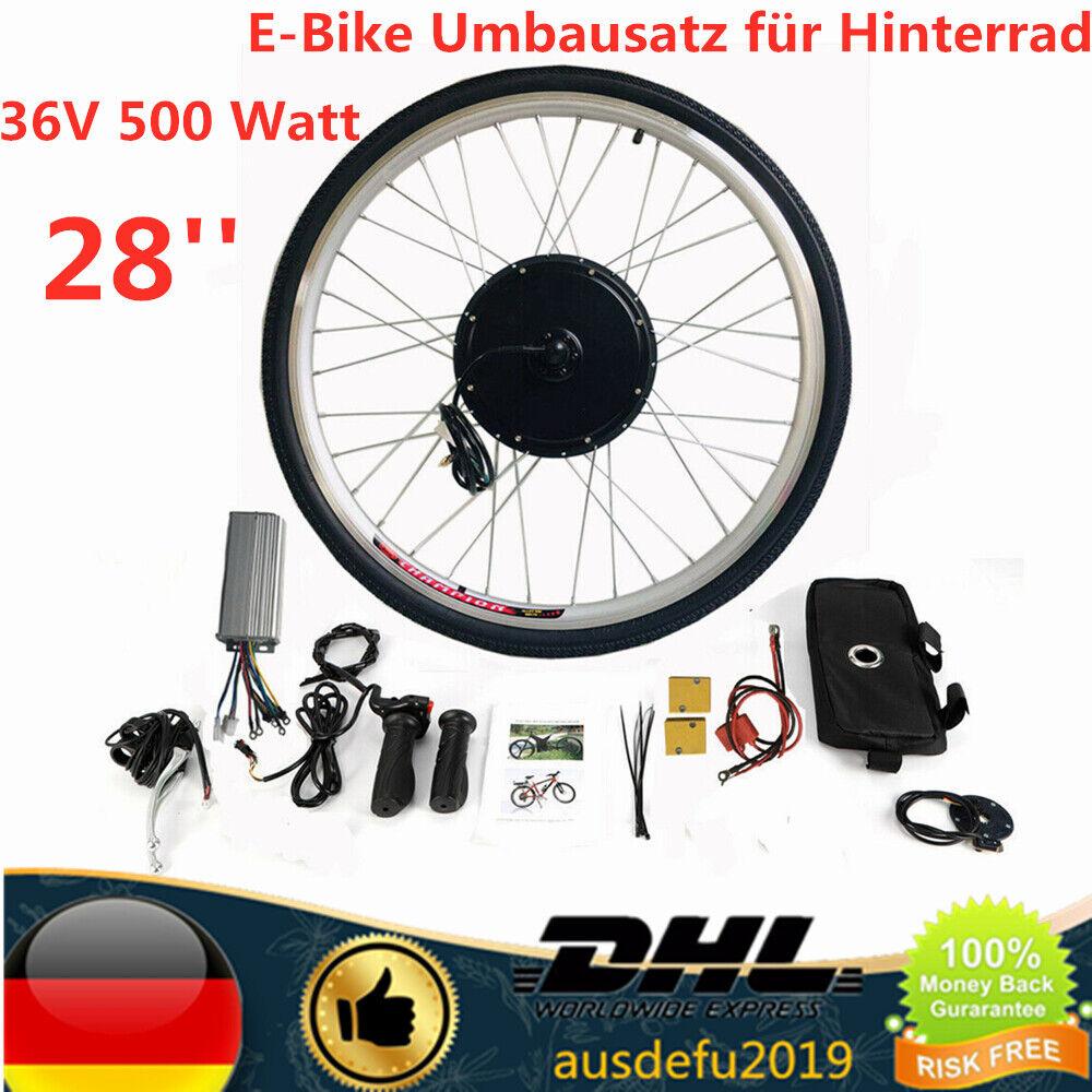E-bike Conversion Kit 28'' Elektrofahrrad Umbausatz Hinterrad 36V 500 Watt motor