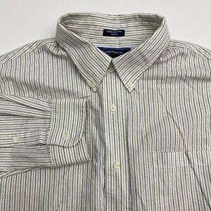 Croft-amp-Barrow-Button-Up-Dress-Shirt-Men-039-s-Size-18-5-36-Long-Sleeve-Striped