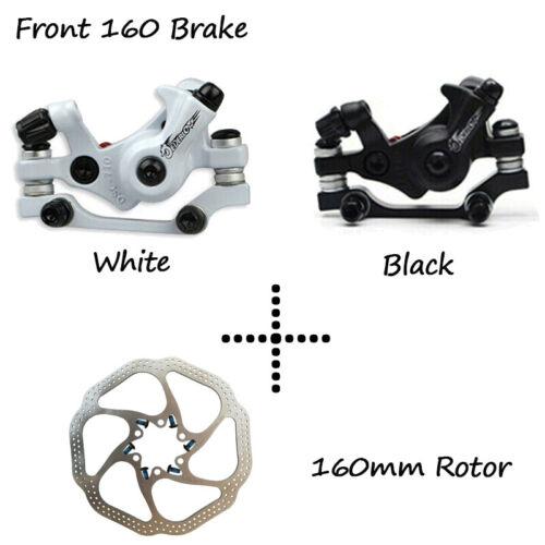 Bicycle 160//180mm Rotor Folding Bike Mechanical Disc Brake Caliper 6 Bolts Rotor