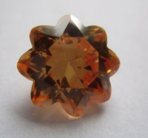 1 CZ  Blume 10 mm Champanger  8-Blätter synthetische Edelsteine Cubic Zirkonia