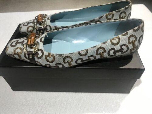 Gucci Horsebit Print Canvas Shoes