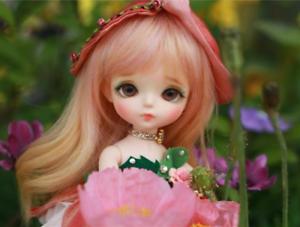 1 8 muñeca de BJD SD muñeca Secret Garden Tulipán libre de cara maquillaje ojos + Gratis