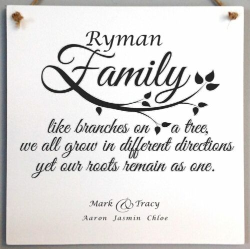 Like Branches on a tree sign 110 Personalised Family Tree Name Plaque