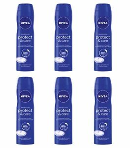 6pz-NIVEA-PROTECT-amp-CARE-deodorante-corpo-spray-150ml-NUOVO-E-ORIGINALE