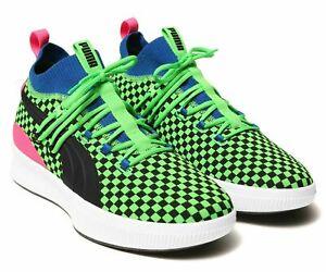 Puma Clyde Court Summertime Shoes Fluro