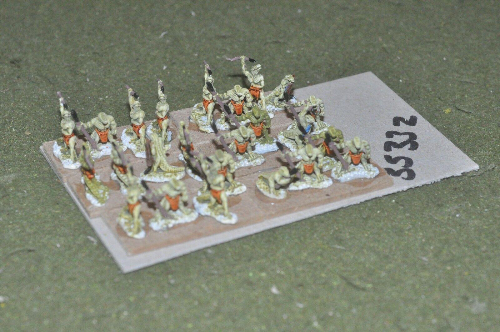 15mm fantasy   lizards - warriors 24 figures - inf (35332)