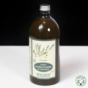 Marius Fabre Savon de Marseille liquide 1000ml parfum Lavande huile D'olive