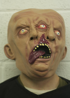 Two Face Faced Latex Mask Halloween Demon Zombie Ghoul Horror Siamese Twins