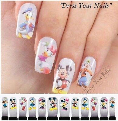 Water Decals - Mickey Nail Wrap Sticker Transfer Disney DIY Full  Stickers -  UK