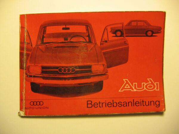Auto Union Audi Betriebsanleitung Ausgabe 11/65 Operating Booklet