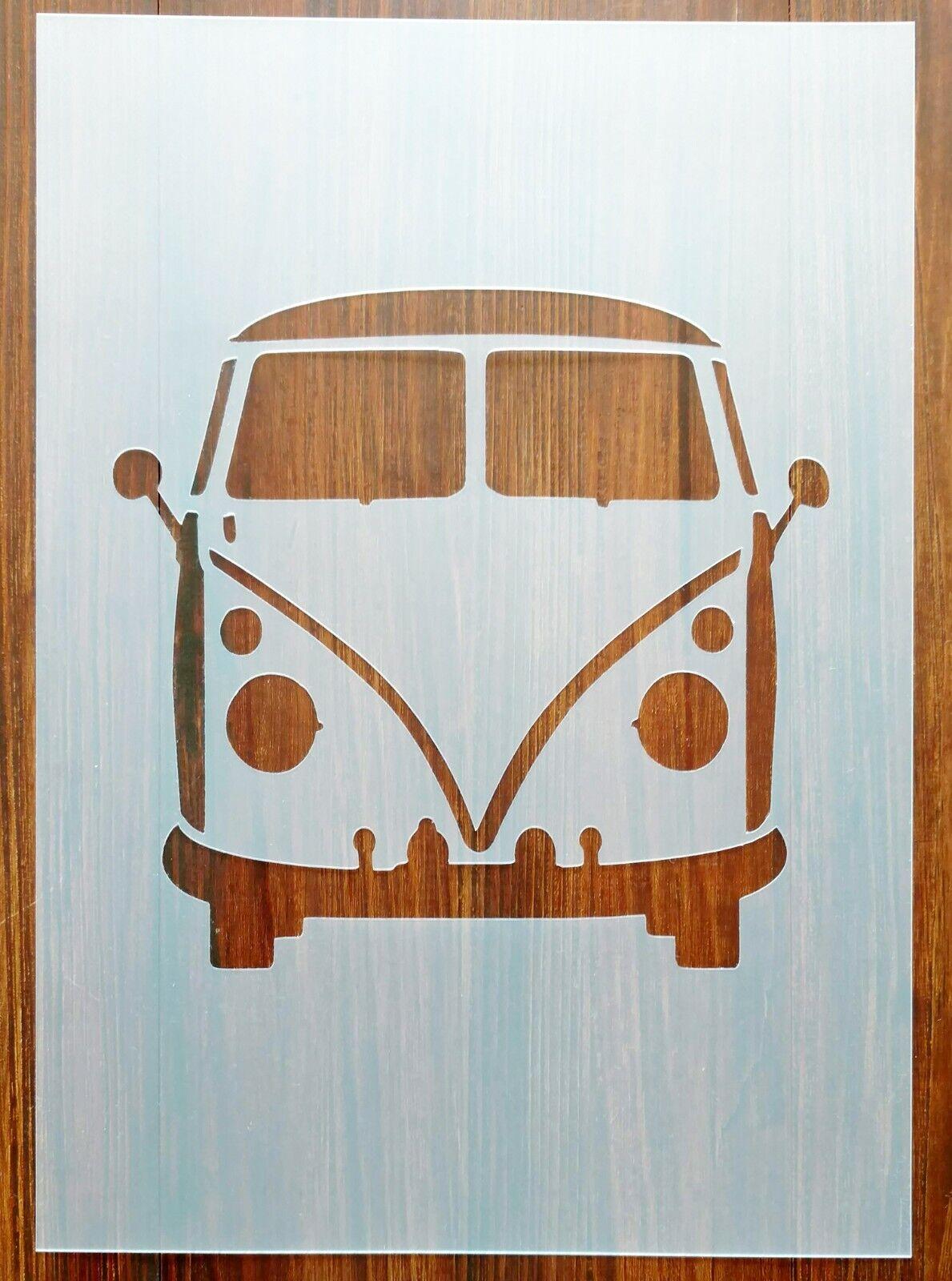 Vw Camper Van Front Stencil Mask Reusable Mylar Sheet For Arts Crafts For Sale Ebay