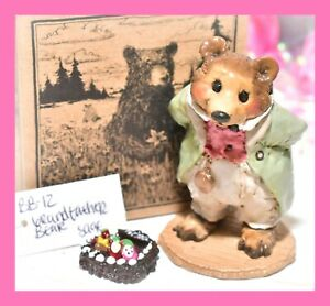 ❤️Wee Forest Folk BB-12 Grandfather Bear Grizzly Sage Green 2002 Petersen WFF❤️