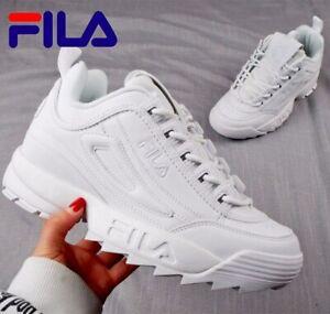 Fila Disruptor II 2 White Mens Fashion