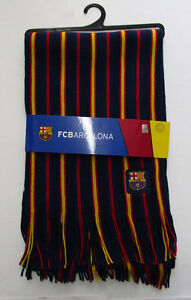 Men's FC Barcelona Scarf, New Mes que un Club Official Licnesed Product Soccer