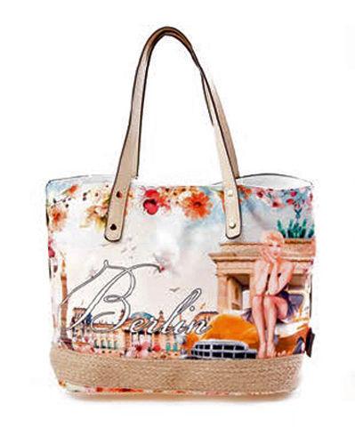 ROBIN RUTH Tasche Berlin Marylin im Vintage Look NEU//OVP City Shopper Bag