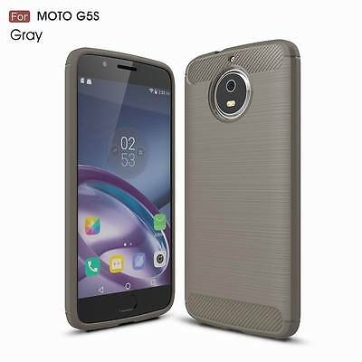 For Motorola Moto G5S Plus Shockproof Armor Carbon Fiber Hybrid Brush Cover Case