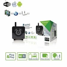 Wireless WiFi IP Camera Home Security Network CCTV P2P IR Night Vision Black