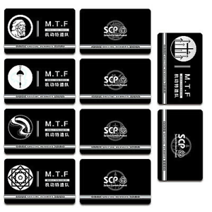 SCP Foundation Keycards sticker pass 10pcs PLASTIC CARD cosplay games gift