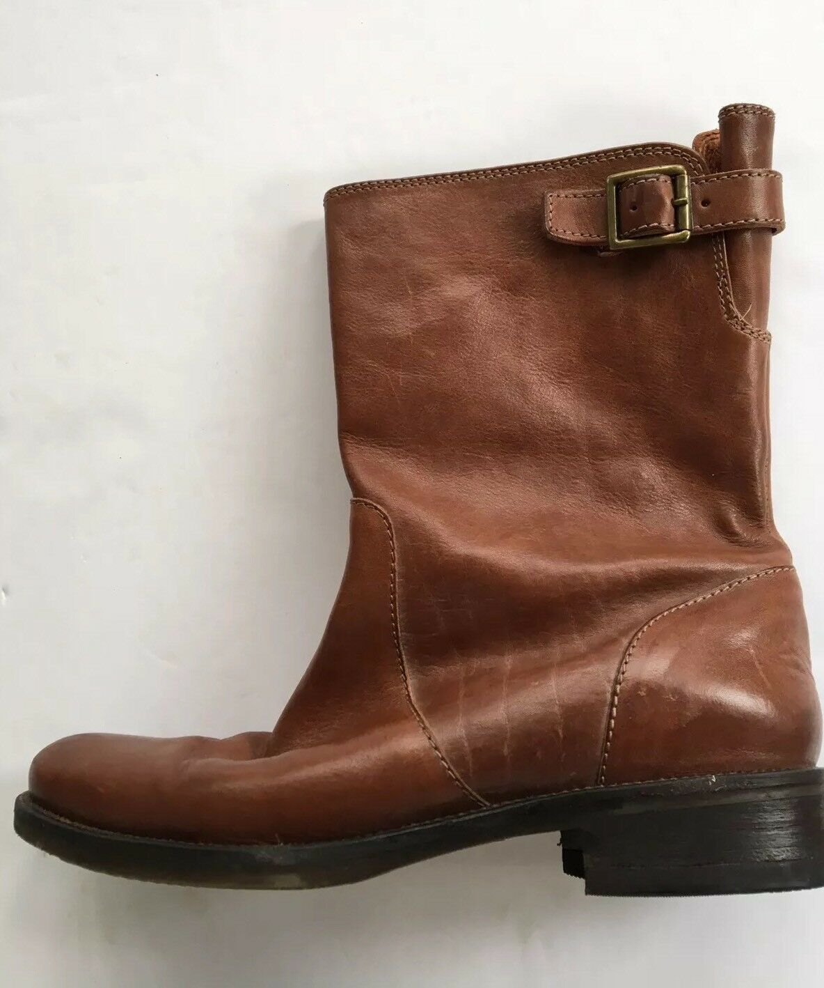 J Boots CREW Womens Short Ankle Riding Boots J Sepia Leather Size 9 cb5475