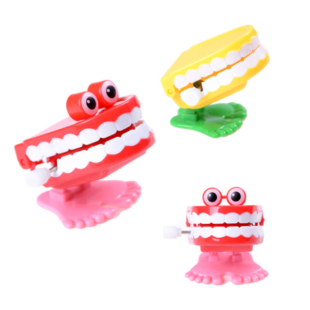 Cute Dental Tooth Dentist Wind-up Gift Plastic Tooth Clockwork Toys Pill FD