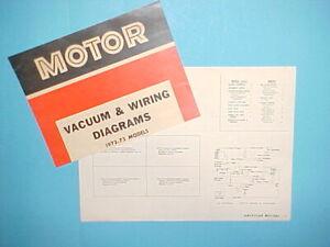 1972 1973 Amc Javelin Sst Amx Gremlin Hornet Matador Ambassador Wiring Diagrams Ebay