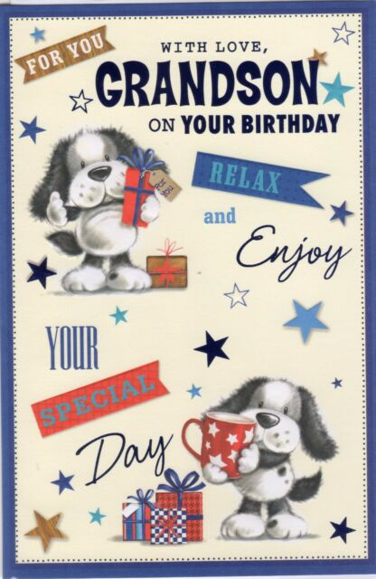 Grandson happy birthday greetings card boy wordy older teenage grandson birthday card for you with love grandson on your birthday m4hsunfo
