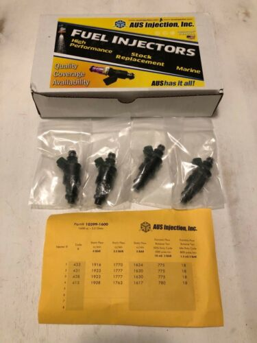 AUS 1600cc HIGH FLOW Racing Fuel Injectors Civic Evo 8//9 Bosch EV1 Connector