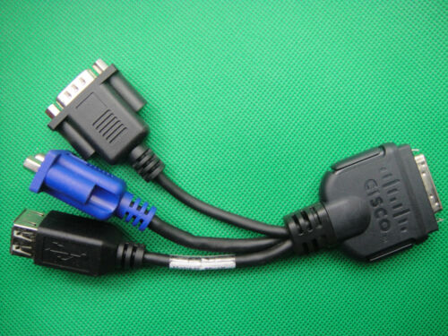 Cisco UCS VGA DB9 RS232 USB Dongle Network Cable Adapter 37-1016-01 45437 Rev A0