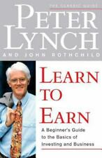LEARN TO EARN by Peter Lynch paperback book FREE SHIPPING investing business