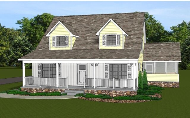 2-Story Home House Plan 2021 SF Blueprings #1349 with Basement & 3 ...