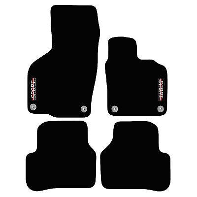 Fit Mazda 2 2007-2014 Tailored Black Carpet Car Floor Mats Set of 4 Made 2 Order