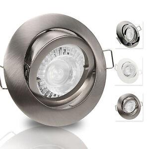 led set deckenstrahler gu10 230v 7 5w 70w dimmbar spots cl pre ebay. Black Bedroom Furniture Sets. Home Design Ideas
